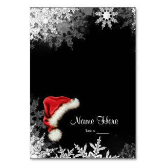 Santa Hat Snowflake Table Seating Card