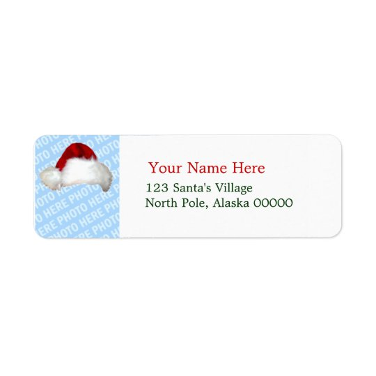 Santa Hat Template Christmas Return Address Labels