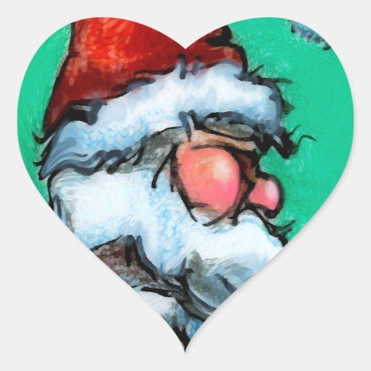 Santa Heart Sticker