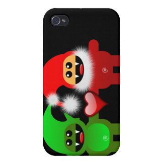 SANTA & HELPER CASE FOR THE iPhone 4
