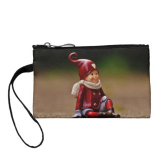Santa helper - happy christmas - gnome coin purse