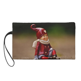 Santa helper - happy christmas - gnome wristlet