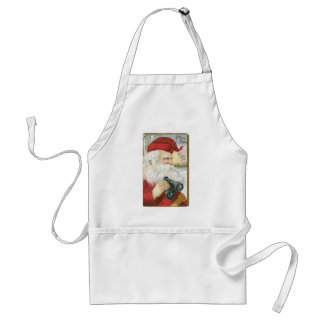 """Santa, """"He's Looking for You!"""" Standard Apron"""