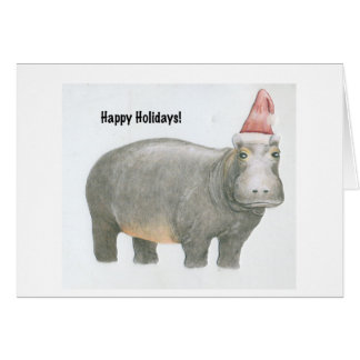 Santa Hippo Card