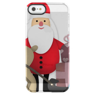 Santa & His Reindeer with Gifts Clear iPhone SE/5/5s Case
