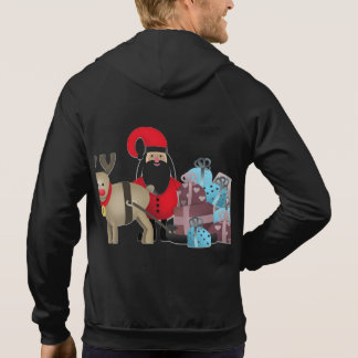 Santa & His Reindeer with Gifts Hoodie