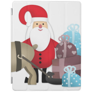 Santa & His Reindeer with Gifts iPad Cover