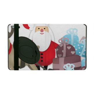 Santa & His Reindeer with Gifts iPad Folio Case