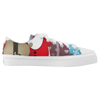 Santa & His Reindeer with Gifts Printed Shoes