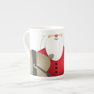 Santa & His Reindeer with Gifts Tea Cup