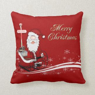 Santa & His Sleigh Christmas Cushion