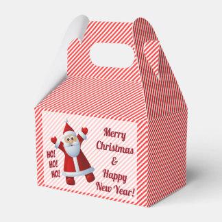 Santa Ho! Ho! Ho! Candy Cane Stripes Customize Favour Box