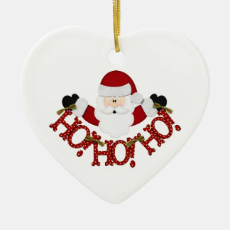 Santa Ho Ho Ho Ceramic Ornament