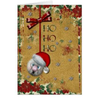 Santa Ho Ho Ho Greeting Card
