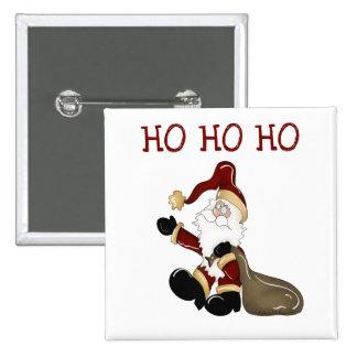 Santa HO HO HO Tshirts and Gifts Button