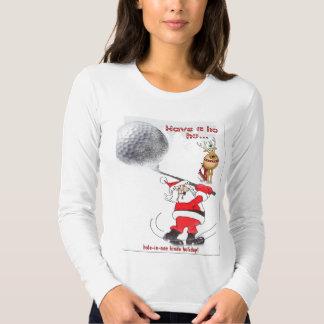 Santa ho ho hole-in-one kinda holiday! shirts