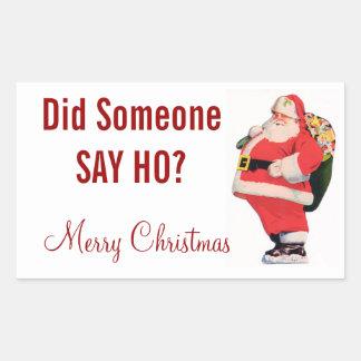 Santa Ho Sticker