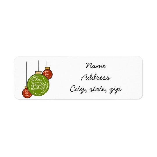 Santa hohoho holiday return address labels