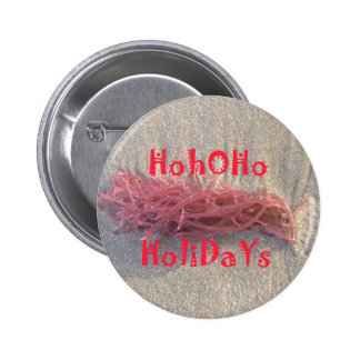 Santa HoHoHo Merry Christmas From Beach colors 6 Cm Round Badge