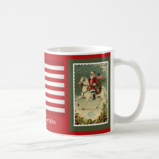 Santa Horse American Flag Quote Coffee Mug