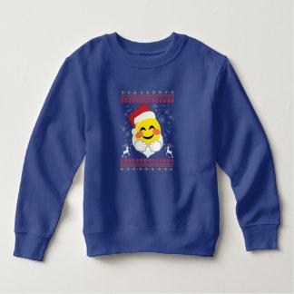 Santa Hug Smiley Emoji Sweatshirt Ugly Christmas