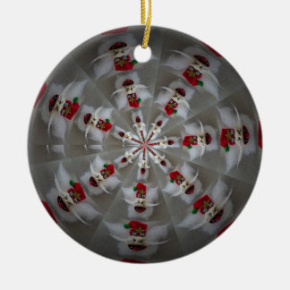 Santa In A Spin ornament