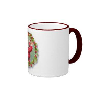 Santa in a Wreath Mug