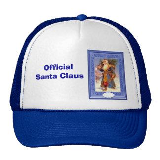 Santa in blue cap