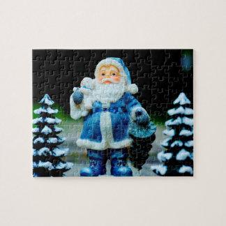 Santa in Blue Puzzles