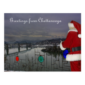 Santa in Chattanooga Postcard