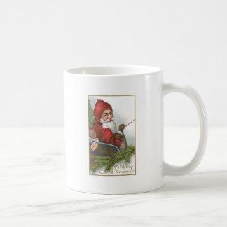 Santa in his sleigh on Christmas Coffee Mug