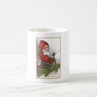 Santa in his sleigh on Christmas Mug