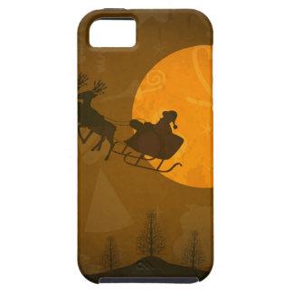 Santa in Moonlight Phone Case
