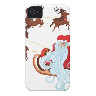 Santa in Sleigh iPhone 4 Cover
