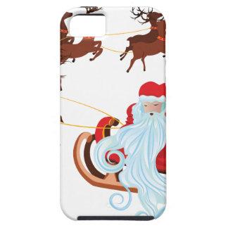 Santa in Sleigh iPhone 5 Cases