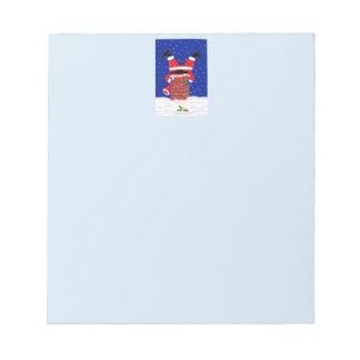 Santa in the Chimney Design Header on Notepad