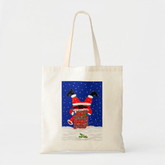 Santa in the Chimney on Budget Tote Bag