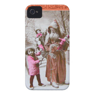Santa in the forest- Distressed victoriana Case-Mate iPhone 4 Cases