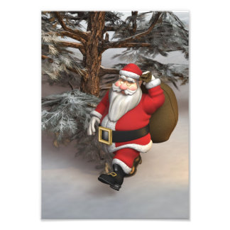 Santa in the Forest Photograph