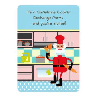 Santa is baking Christmas cookies Card