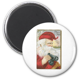 Santa is Looking for You! 6 Cm Round Magnet