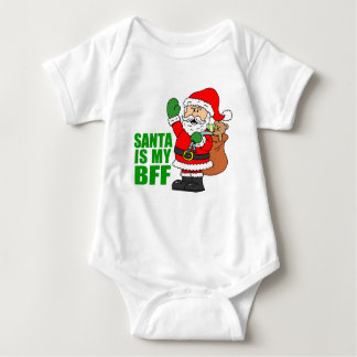 Santa Is My BFF Baby Bodysuit