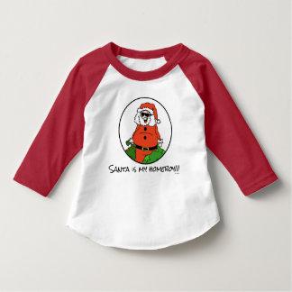 Santa is my homeboy cartoon drawing shirt