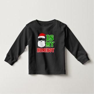 Santa is my Homeboy funny baby Christmas Tees