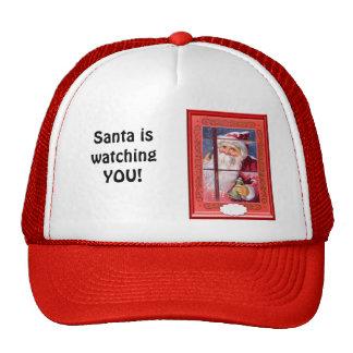 Santa is watching you mesh hat