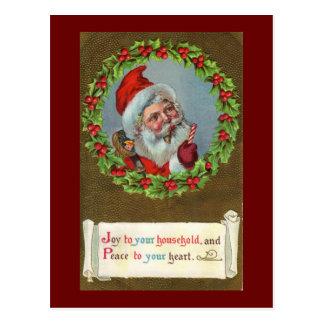 Santa Joy to You Christmas Postcard