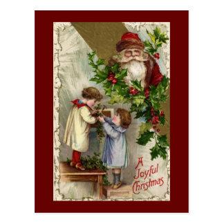 Santa Joyful Christmas Postcard