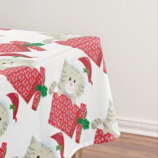 Santa Kitten Tablecloth