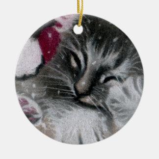 Santa Kitty Cat Ornament