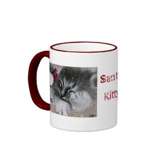 Santa kitty Christmas Mug